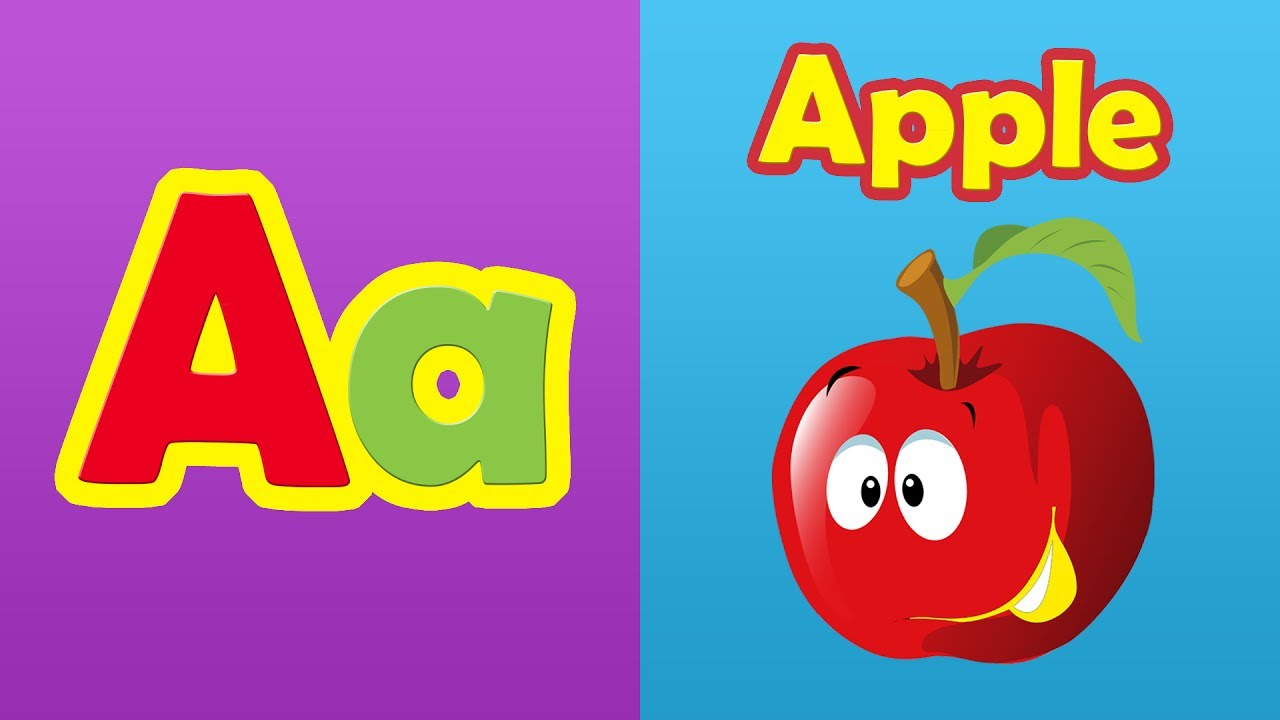 learn phonics song with two words - a for apple