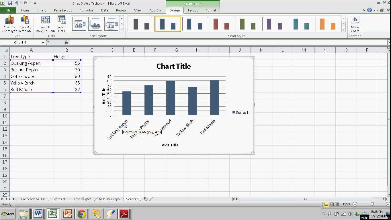 Making a Simple Bar Graph in Excel   The Learning Zone